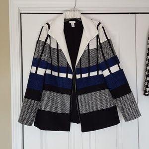 Chicos tweed textured jacket, size 0
